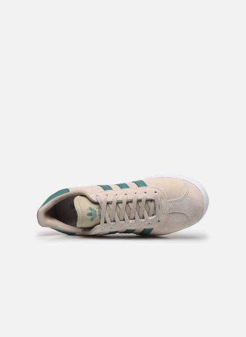 Baskets adidas originals Gazelle W Beige vue gauche