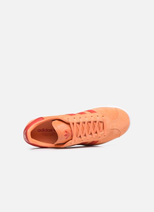 Baskets adidas originals Gazelle W Orange vue gauche