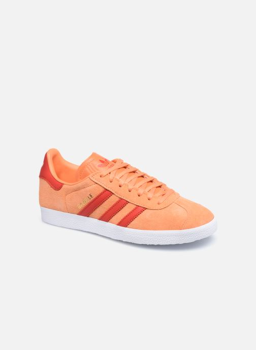 Baskets adidas originals Gazelle W Orange vue détail/paire