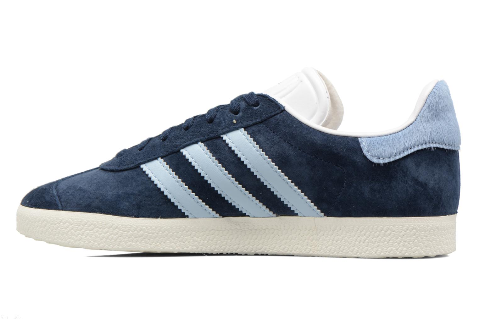 Baskets Adidas Originals Gazelle W Bleu vue face