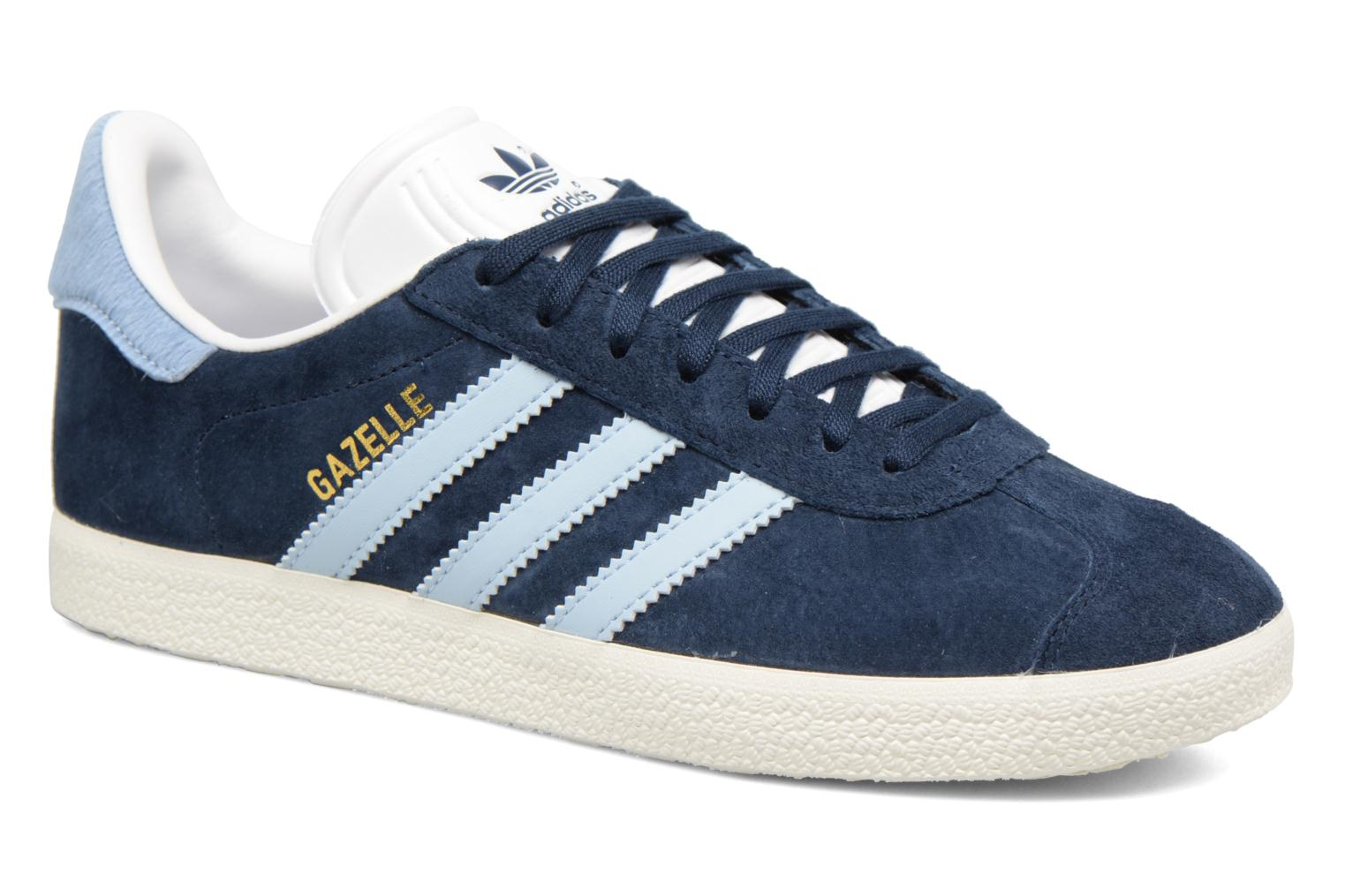 Baskets Adidas Originals Gazelle W Bleu vue détail/paire