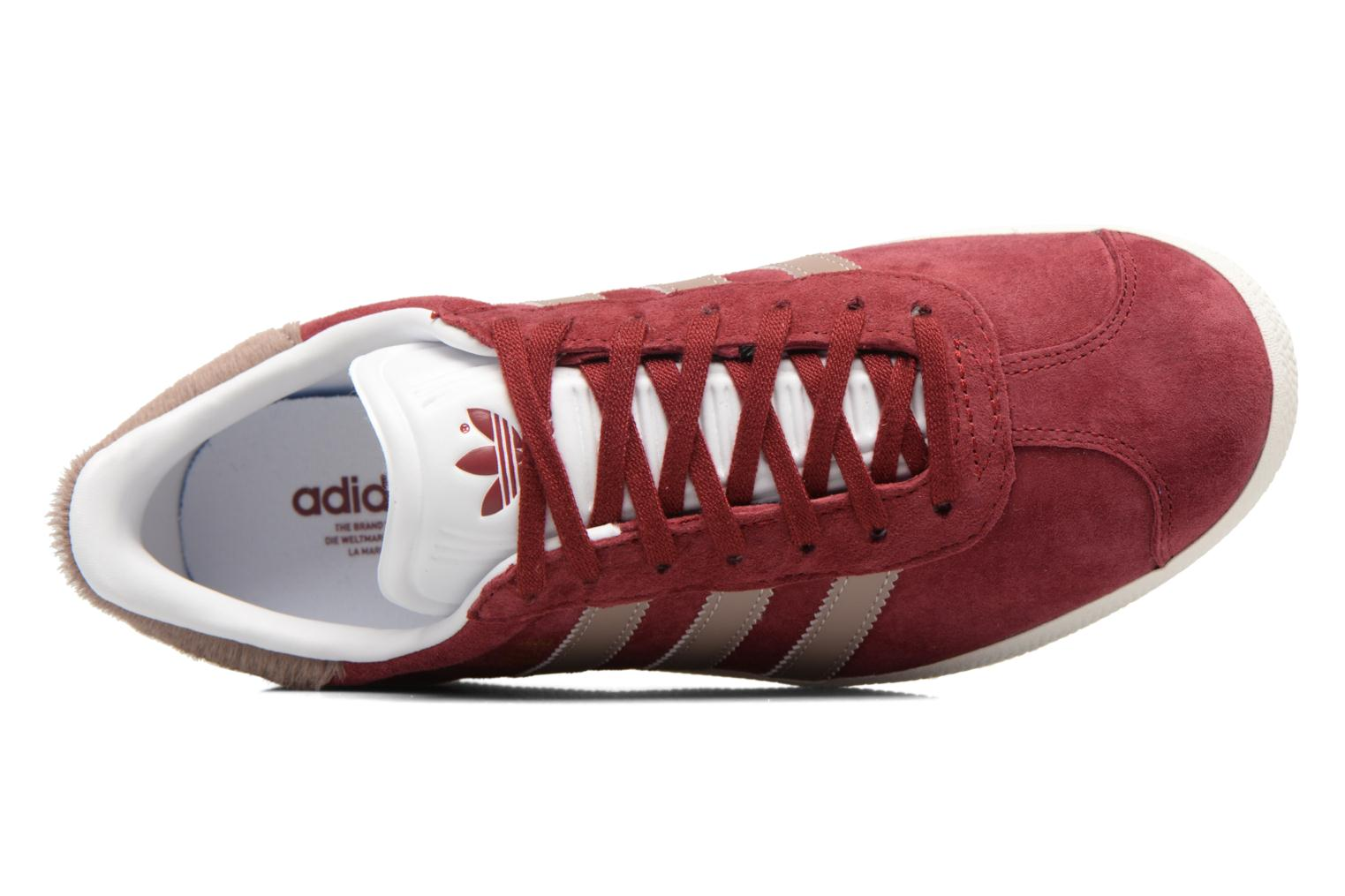 Baskets Adidas Originals Gazelle W Bordeaux vue gauche