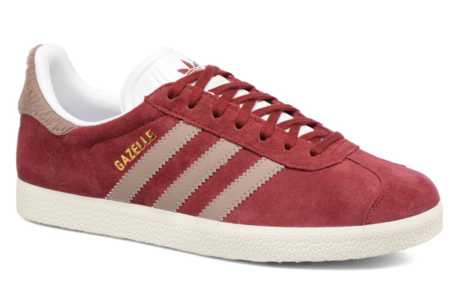 Baskets Adidas Originals Gazelle W Bordeaux vue détail/paire