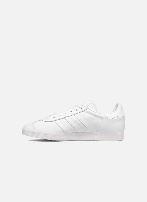 Baskets adidas originals Gazelle Blanc vue face