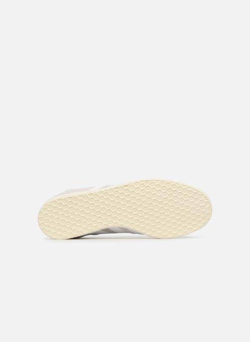 Baskets adidas originals Gazelle Gris vue haut