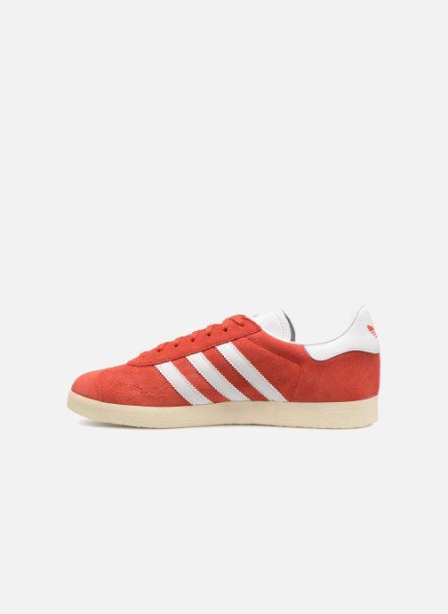 Deportivas adidas originals Gazelle Rojo vista de frente