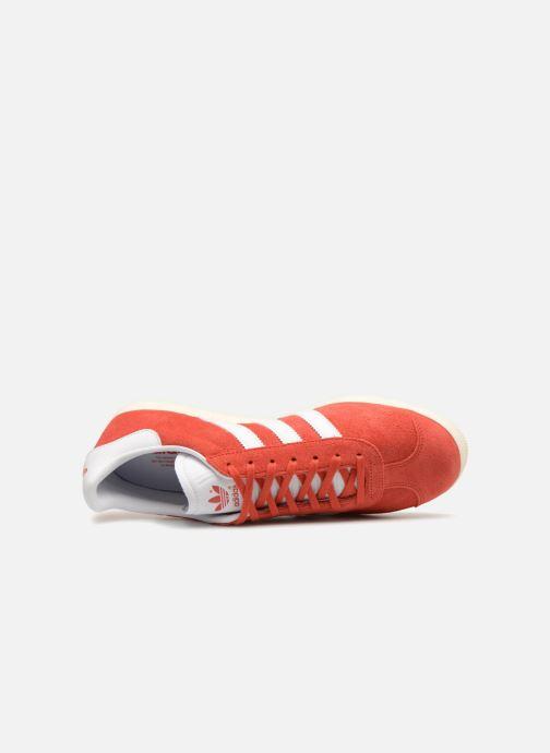 Baskets adidas originals Gazelle Rouge vue gauche