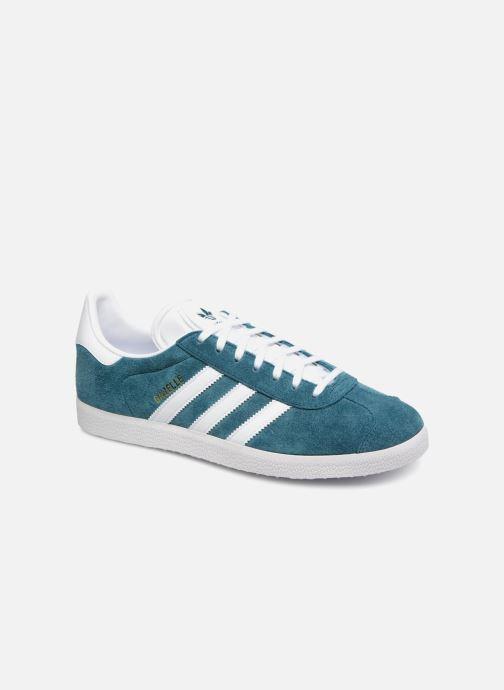 super popular b183d 5ae0f Baskets adidas originals Gazelle Bleu vue détail paire