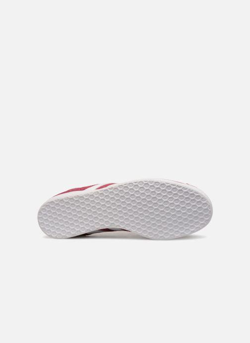 Sneaker adidas originals Gazelle weinrot ansicht von oben