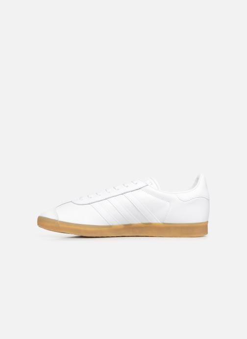 Baskets adidas originals Gazelle Blanc vue face