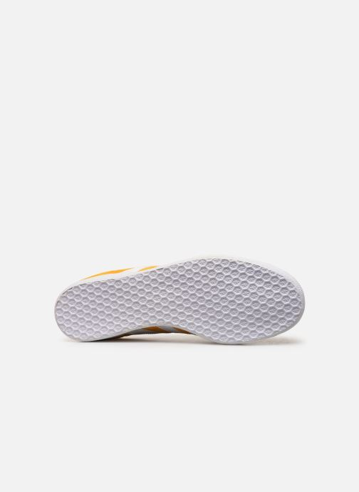 Baskets adidas originals Gazelle Jaune vue haut