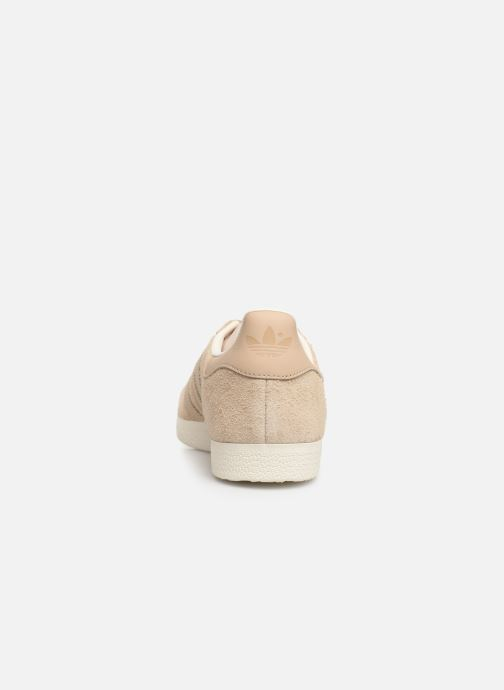 Baskets adidas originals Gazelle Beige vue droite