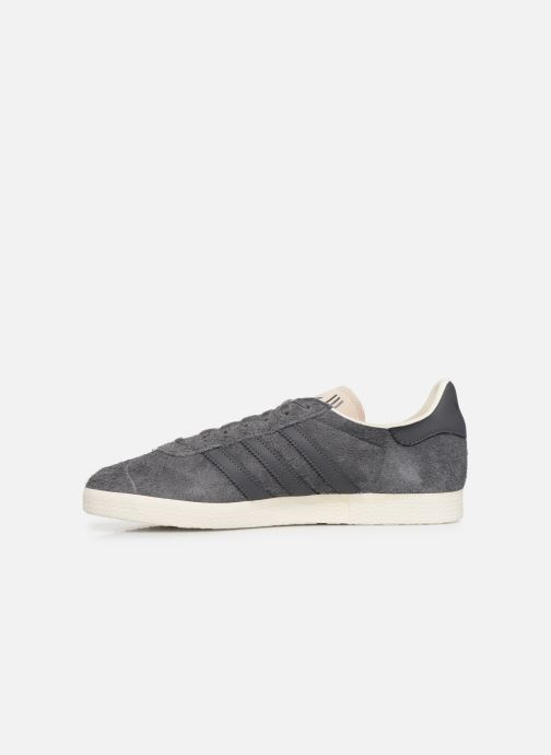 Baskets adidas originals Gazelle Gris vue face