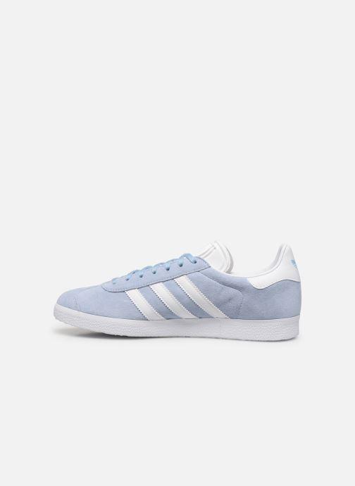 Sneakers adidas originals Gazelle Azzurro immagine frontale