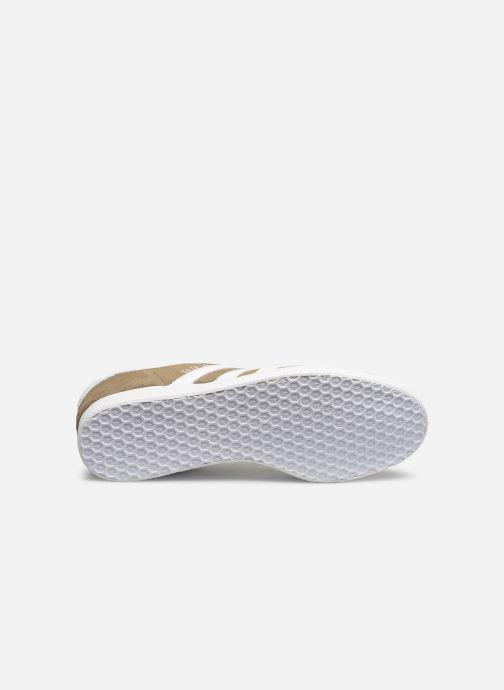 Baskets adidas originals Gazelle Beige vue haut