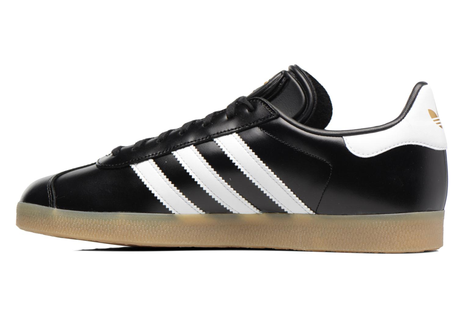 Baskets Adidas Originals Gazelle Noir vue face