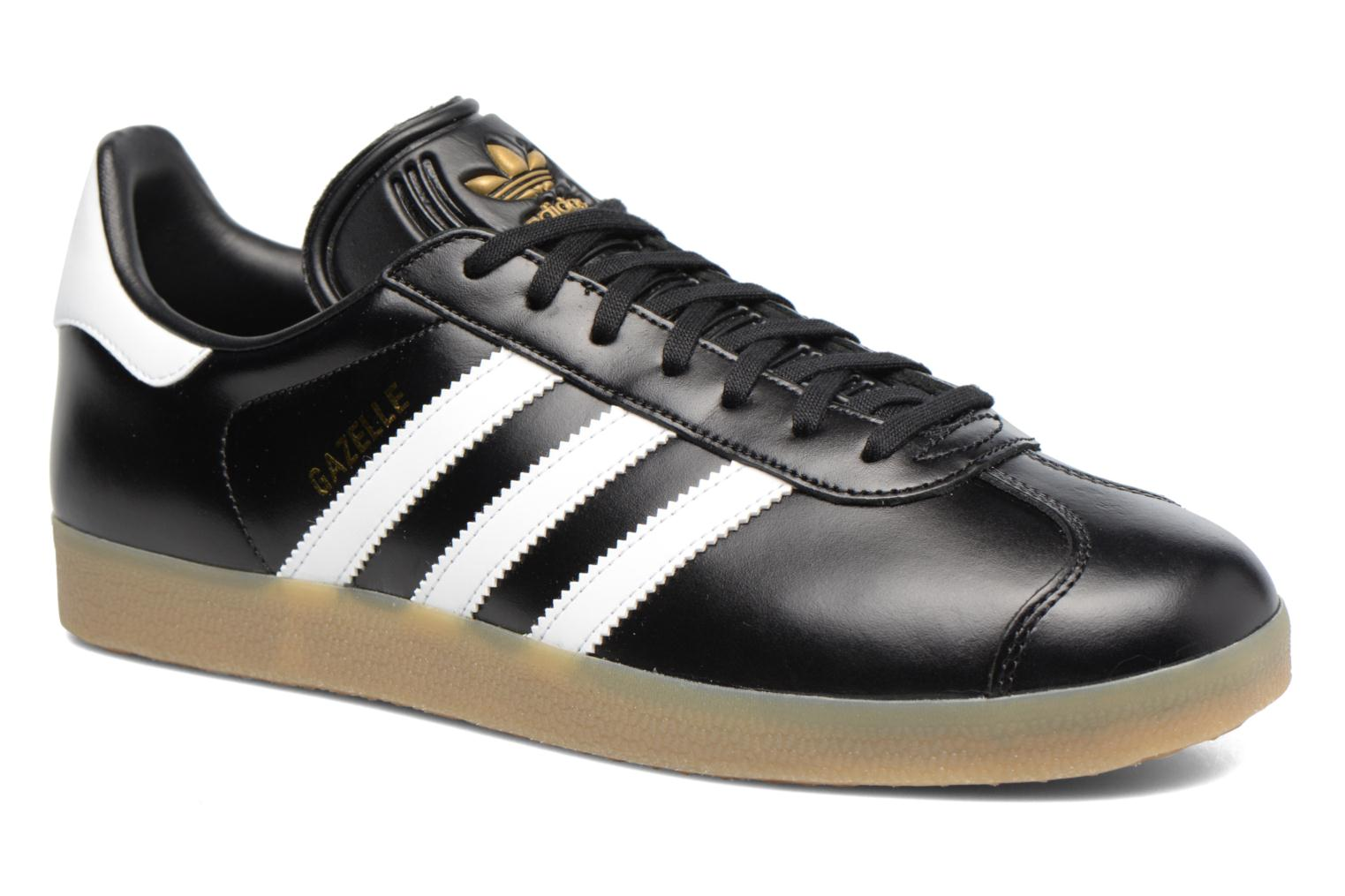 Baskets Adidas Originals Gazelle Noir vue détail/paire