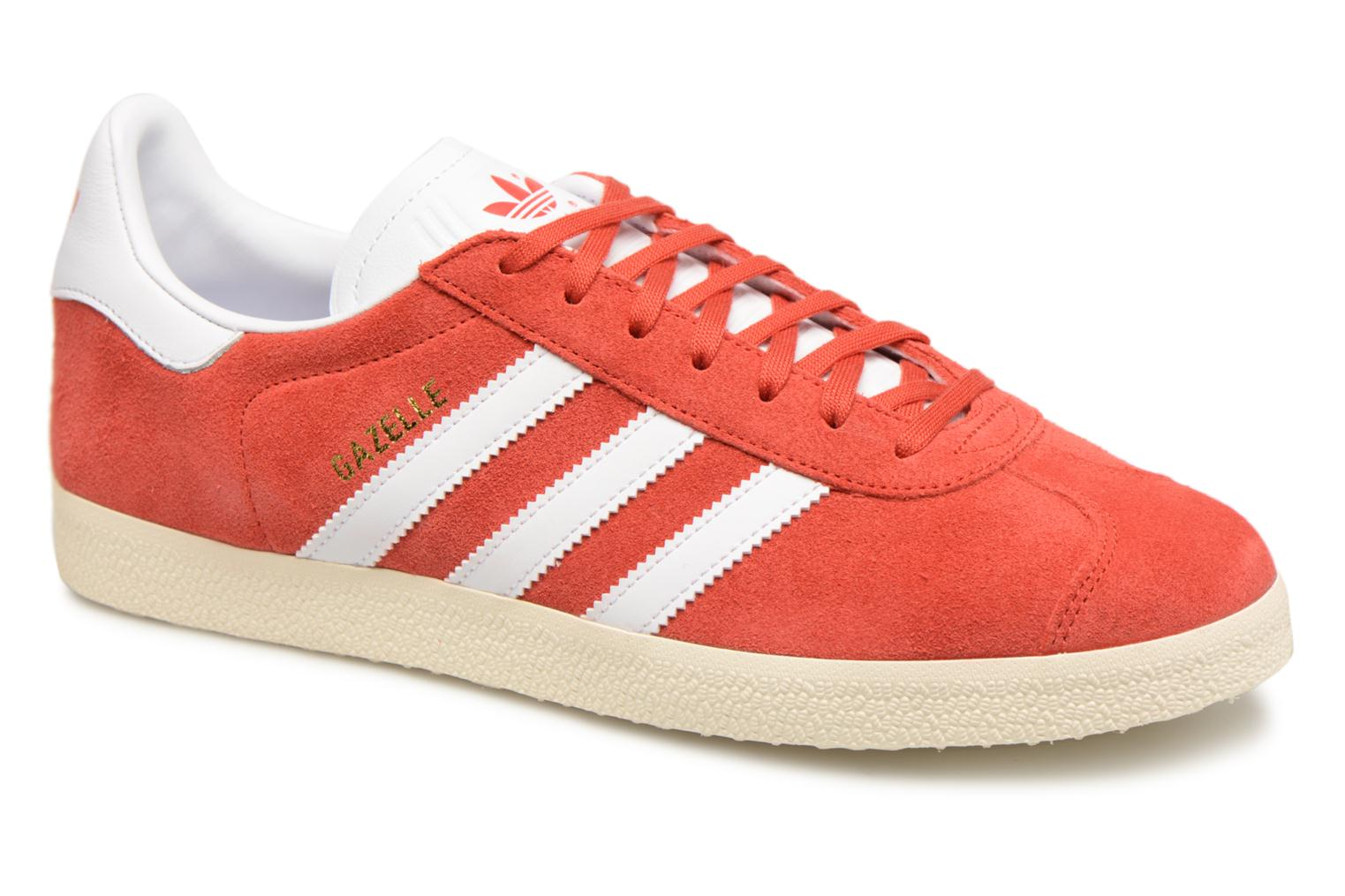 Baskets Adidas Originals Gazelle Rouge vue détail/paire