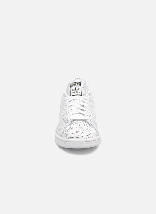 online store b9263 570d2 Baskets adidas originals Stan Smith Ro W Blanc vue portées chaussures