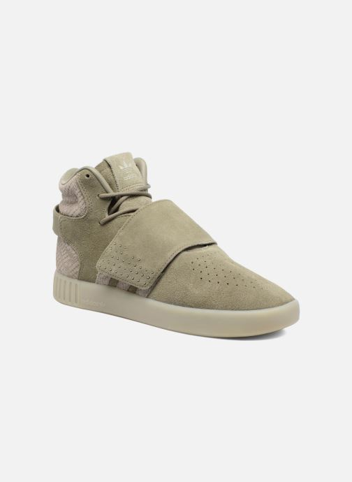 Trainers adidas originals Tubular Invader Strap Green detailed view/ Pair view