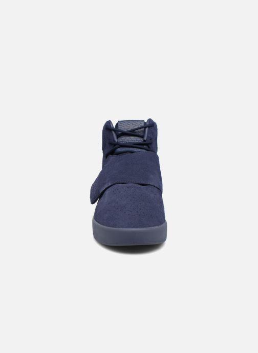 Sneaker Adidas Originals Tubular Invader Strap blau schuhe getragen