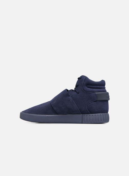 Sneaker Adidas Originals Tubular Invader Strap blau ansicht von vorne