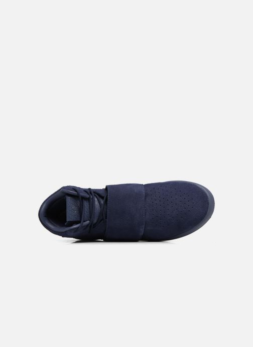 Baskets adidas originals Tubular Invader Strap Bleu vue gauche