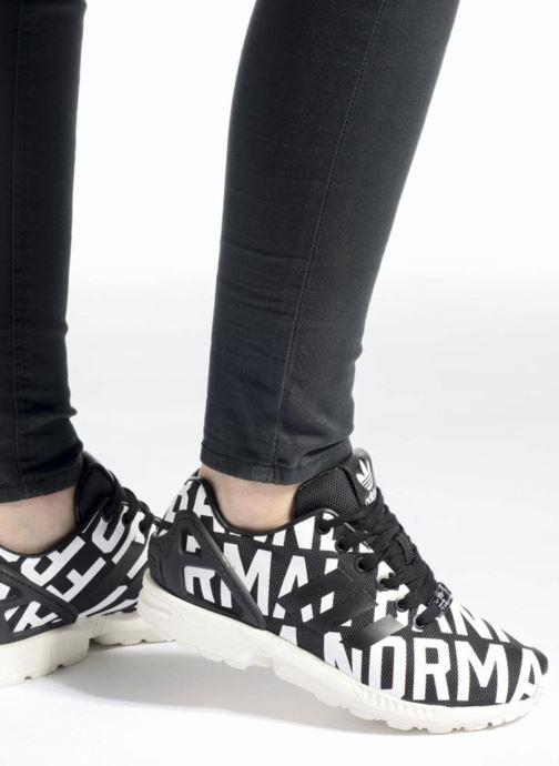 Baskets adidas originals Zx Flux Ro W Multicolore vue bas / vue portée sac