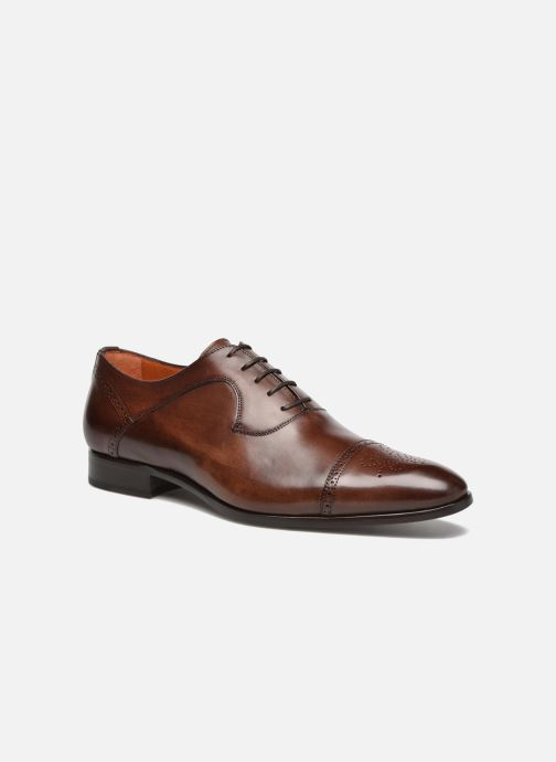 Lace-up shoes Marvin&Co Luxe Pemou - Cousu Blake Brown detailed view/ Pair view