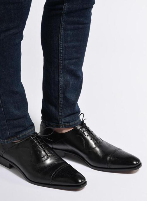 Lace-up shoes Marvin&Co Luxe Pemou - Cousu Blake Black view from underneath / model view