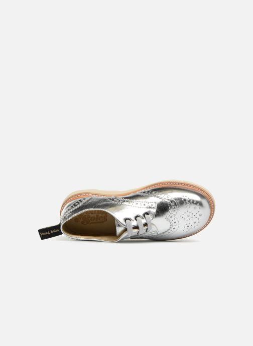 Scarpe con lacci Young Soles Brando Argento immagine sinistra