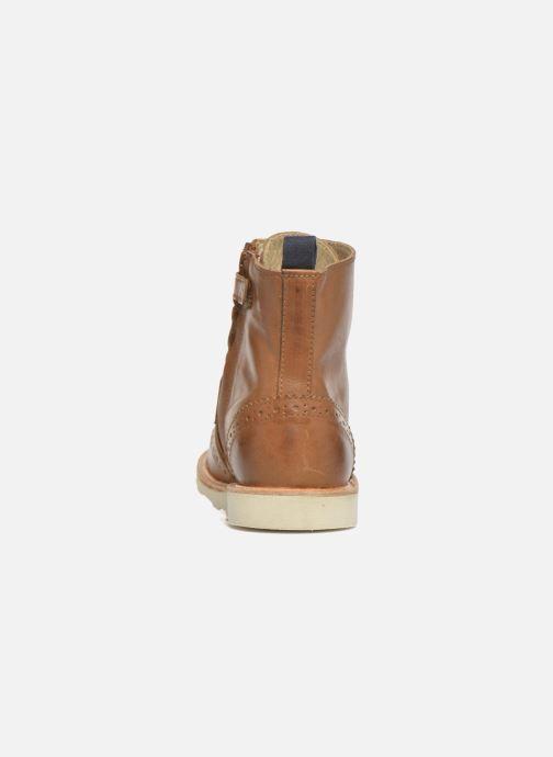 Bottines et boots Young Soles Sidney Marron vue droite