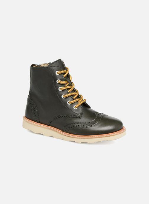Bottines et boots Young Soles Sidney Vert vue détail/paire