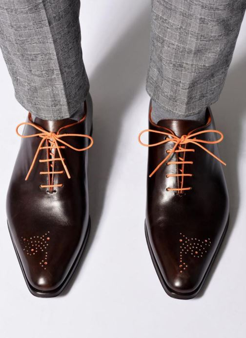 Chaussures à lacets Marvin&Co Luxe Perrowne - Cousu Blake Marron vue bas / vue portée sac