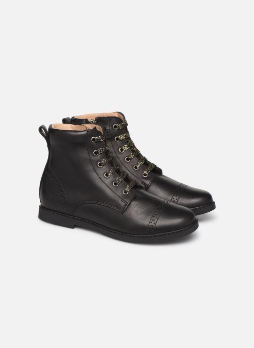 Bottines et boots Pom d Api City Brogue Noir vue 3/4