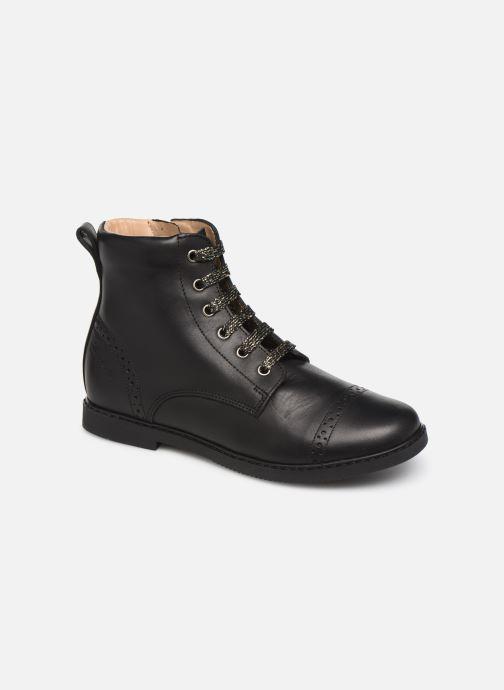 Ankelstøvler Pom d Api City Brogue Sort detaljeret billede af skoene