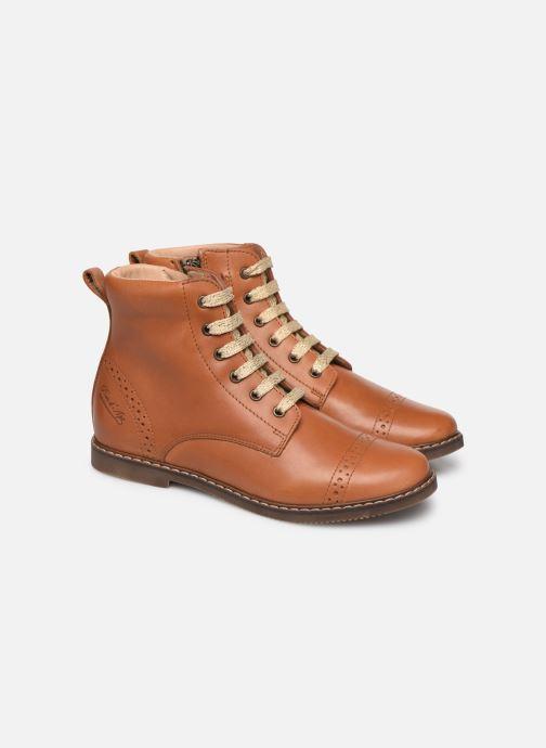 Bottines et boots Pom d Api City Brogue Marron vue 3/4