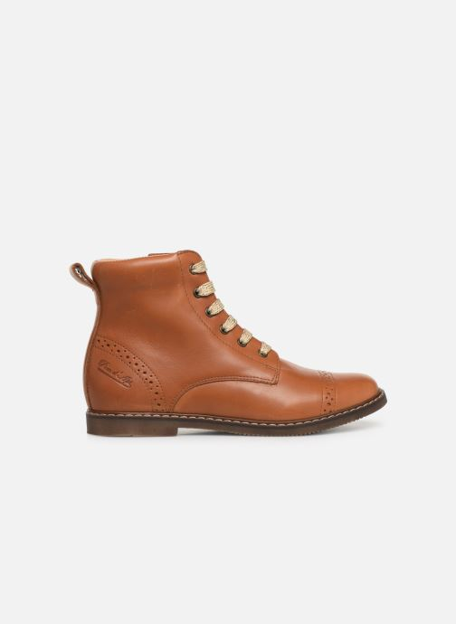 Boots en enkellaarsjes Pom d Api City Brogue Bruin achterkant
