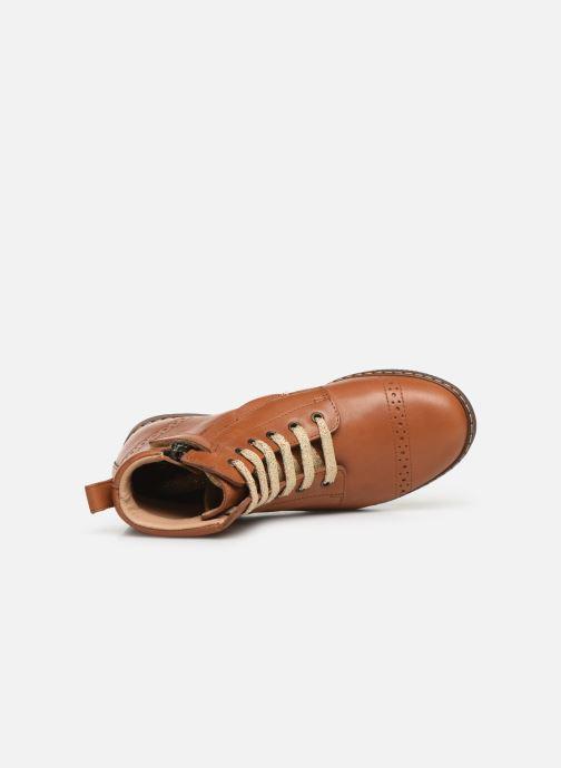 Boots en enkellaarsjes Pom d Api City Brogue Bruin links