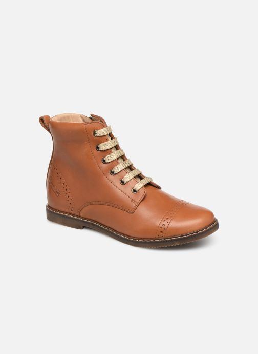 Bottines et boots Pom d Api City Brogue Marron vue détail/paire