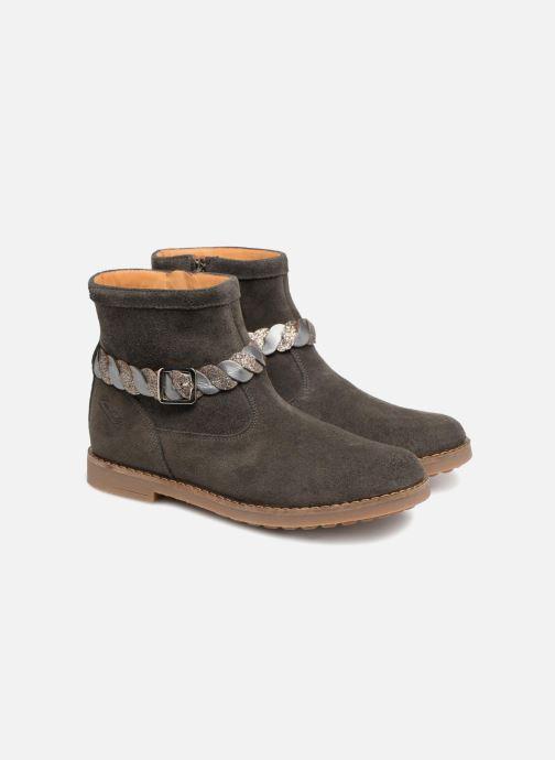 Ankle boots Pom d Api Trip Twist Grey 3/4 view