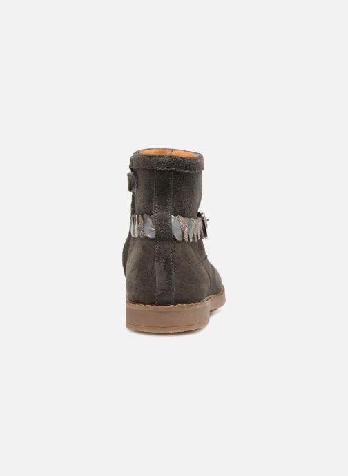 Ankle boots Pom d Api Trip Twist Grey view from the right