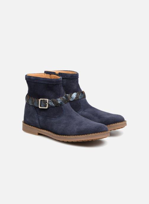 Bottines et boots Pom d Api Trip Twist Bleu vue 3/4