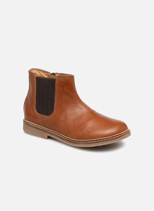 Bottines et boots Pom d Api Retro Jodzip Marron vue détail/paire