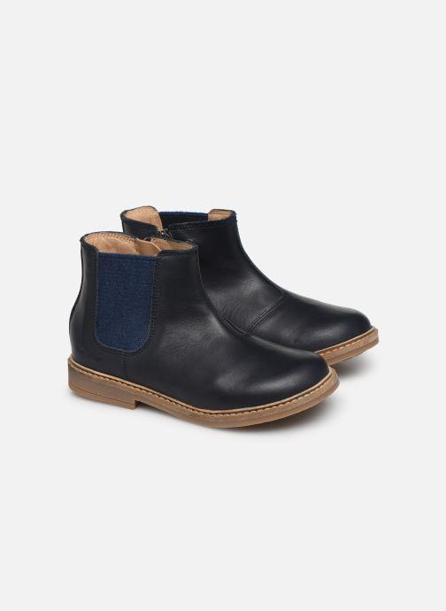 Bottines et boots Pom d Api Retro Jodzip Bleu vue 3/4