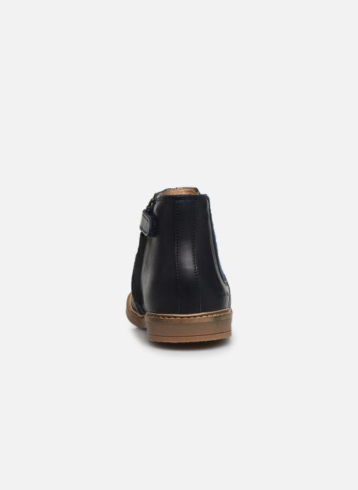 Bottines et boots Pom d Api Retro Jodzip Bleu vue droite