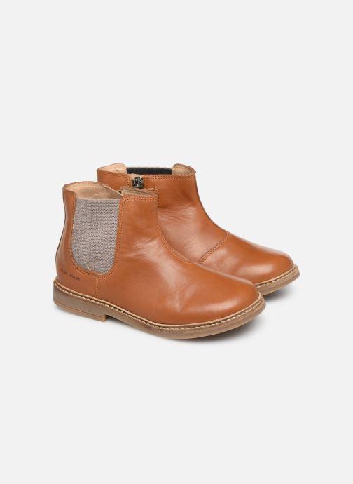 Boots en enkellaarsjes Pom d Api Retro Jodzip Bruin 3/4'