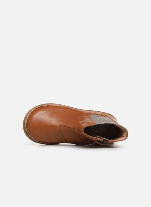 Boots en enkellaarsjes Pom d Api Retro Jodzip Bruin links