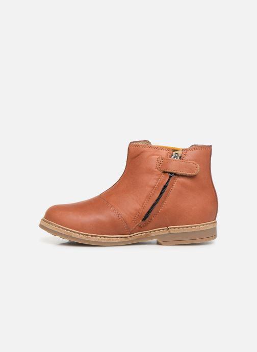 Boots en enkellaarsjes Pom d Api Retro Jodzip Bruin voorkant