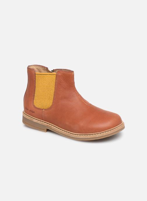 Boots en enkellaarsjes Pom d Api Retro Jodzip Bruin detail